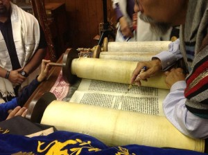 Torah reading with otero