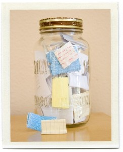 jar full of G-d's memorials about His interventions