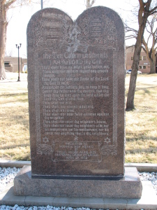 The 10 Commandments on the Court House Lawn in Roswell, NM