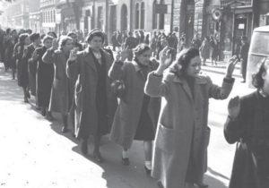 jewish women rounded up by nazis - budapest 1944