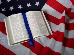 flag and bible shutterstock_3284412